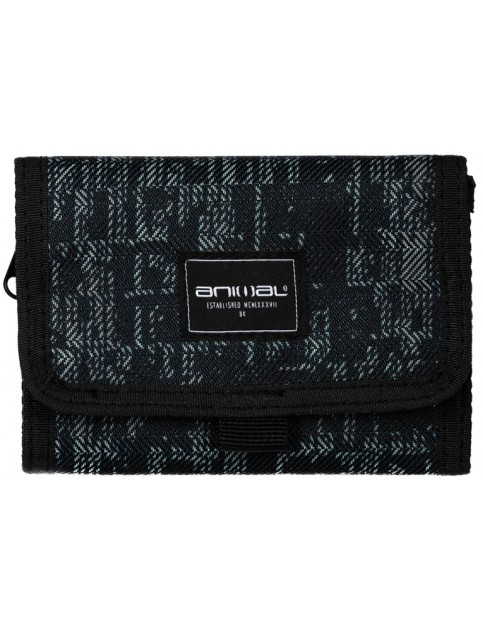 Animal Kicks Polyester Wallet in Black/Grey