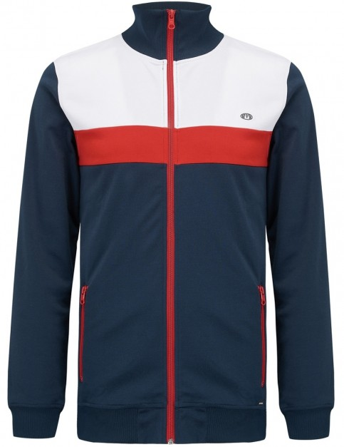 Animal Lamart Full Zip Fleece in Dark Navy