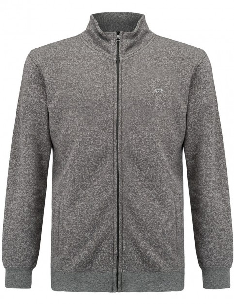Animal Larma Full Zip Fleece in Asphalt Grey Marl