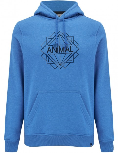 Animal Late Pullover Hoody in Snorkel Blue Marl