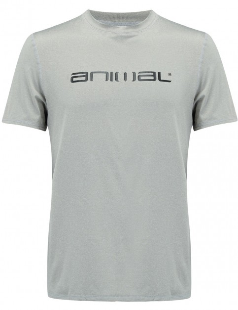 Animal Latero Short Sleeve Rash Vest in Grey Marl