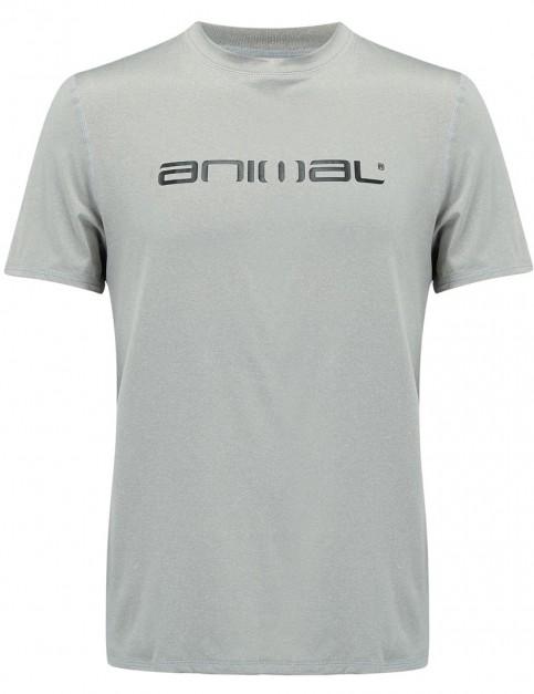 Animal Latero Short Sleeve Rash Vest in Grey Marl