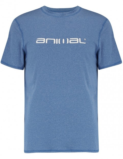 Animal Latero Short Sleeve Rash Vest in Snorkel Blue