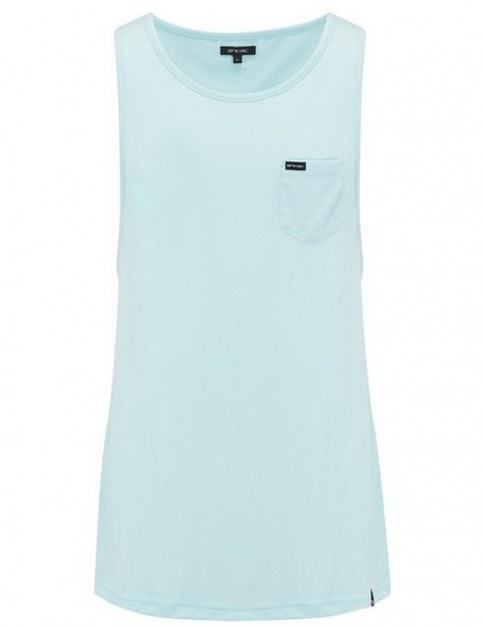 Animal Leon Sleeveless T-Shirt in Clearwater Blue Marl