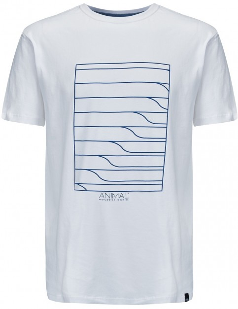 Animal Lines Short Sleeve T-Shirt in White