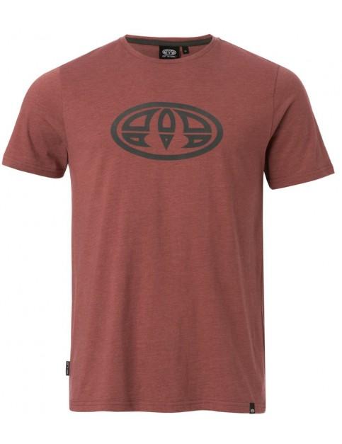 Wild Ginger Red Marl Animal Lister Short Sleeve T-Shirt