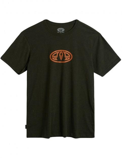 Animal Lister Short Sleeve T-Shirt in Pine Green Marl