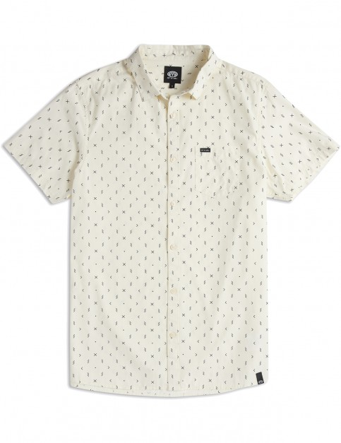 Animal Local Short Sleeve Shirt in Antique Cream