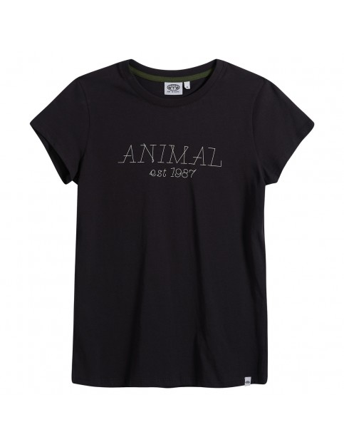 Animal Lowgo Short Sleeve T-Shirt in Black