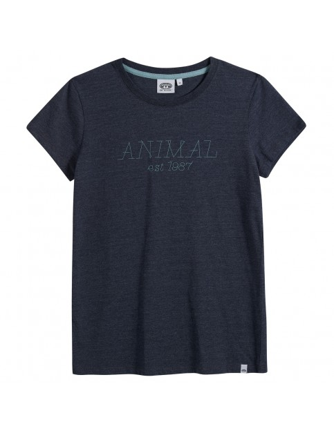 Animal Lowgo Short Sleeve T-Shirt in Dark Navy Marl
