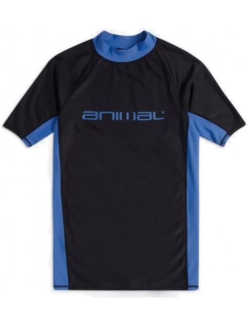 Animal Luli Short Sleeve Rash Vest in Black