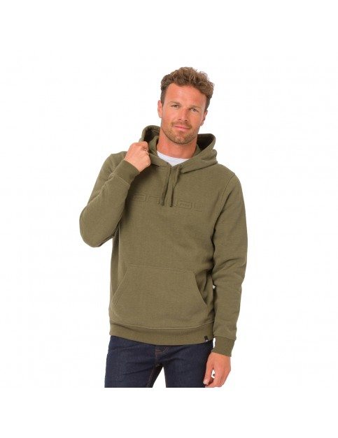 Animal Luna Pullover Hoody in Dark Olive Green Marl