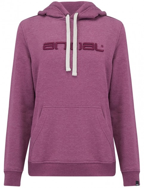 Animal Luna Pullover Hoody in Mauve Purple Marl