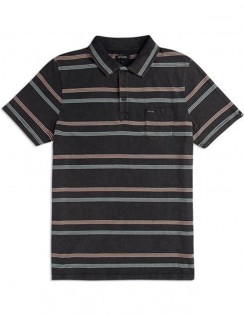 Animal Lyfer Polo Shirt in Black