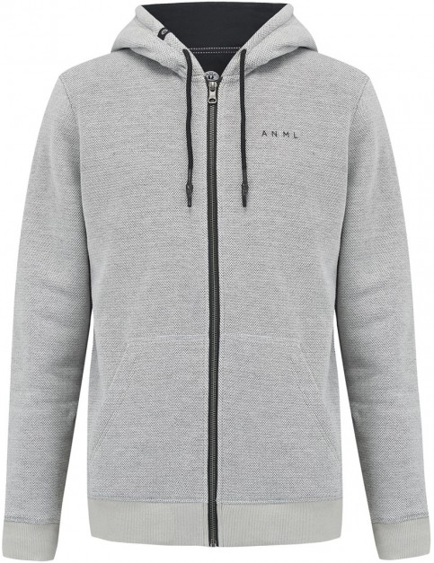 Animal Makzip Full Zip Fleece in Violet Grey