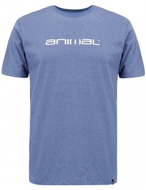 Animal Marrly Short Sleeve T-Shirt in Lakewood Blue Marl
