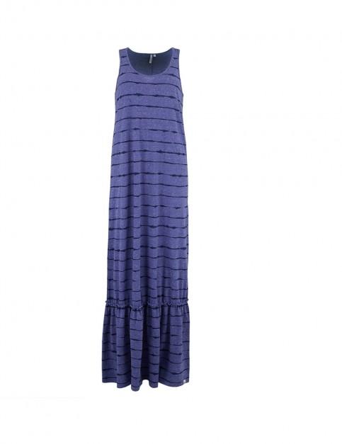 Animal Maxine Dress in Dusty Blue Marl