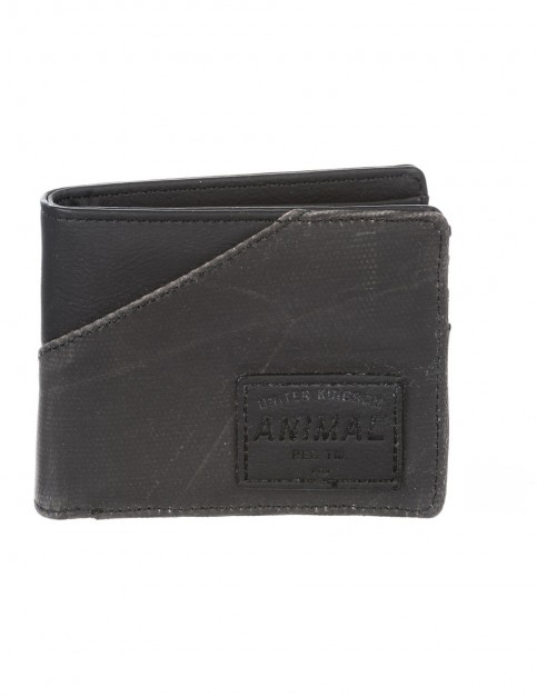 Animal Melvich Faux Leather Wallet in Black
