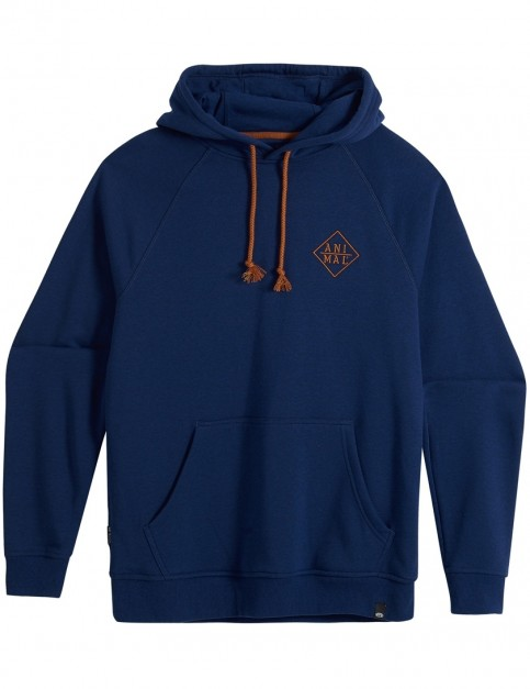 Animal Milne Pullover Hoody in Deepest Blue Marl