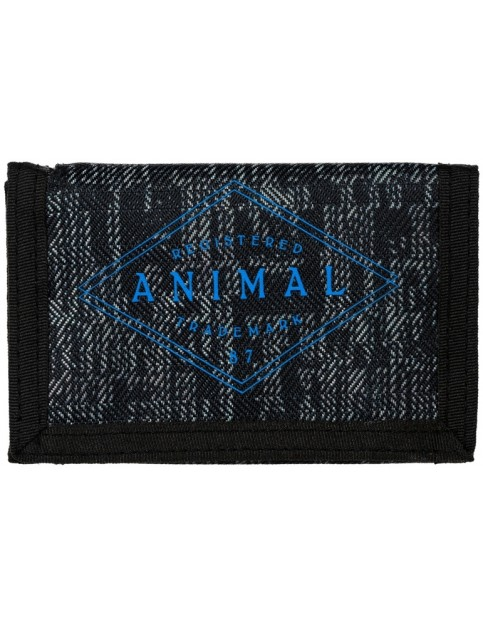 Animal Modify Polyester Wallet in Black/Grey