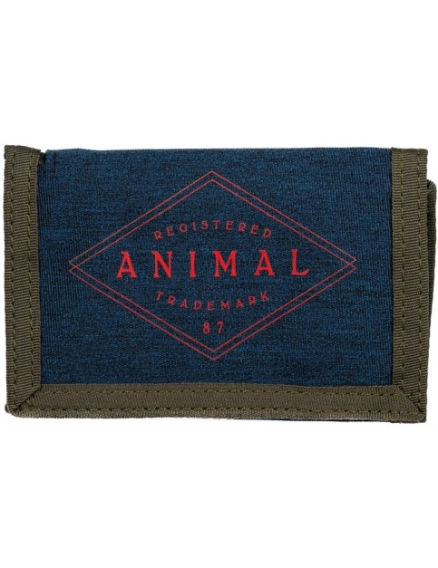 Animal Modify Polyester Wallet in Dark Olive Green