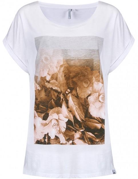 Animal Moon Flower Short Sleeve T-Shirt in White