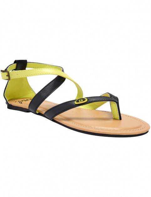 Animal Napa Faux Leather Sandals in Aquilone Yellow