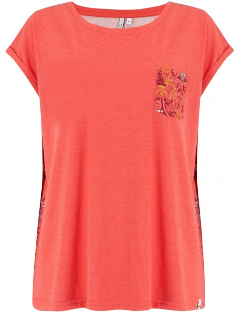 Animal Nautic Short Sleeve T-Shirt in Cranberry Red Marl