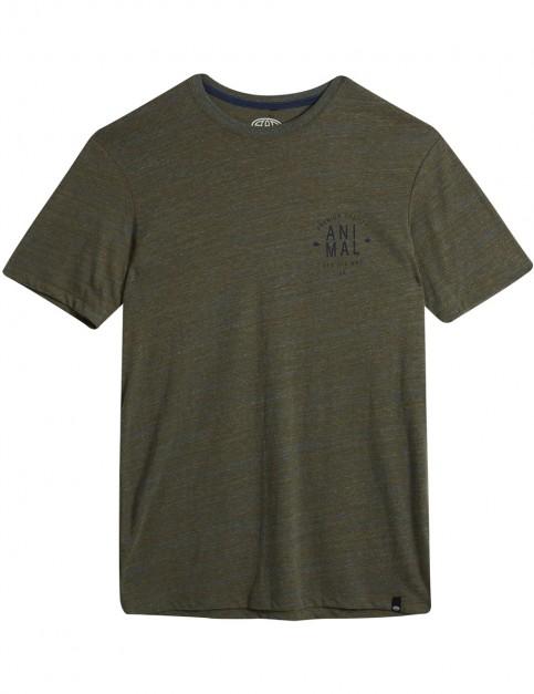 Animal Navigate Short Sleeve T-Shirt in Dark Olive Green Marl
