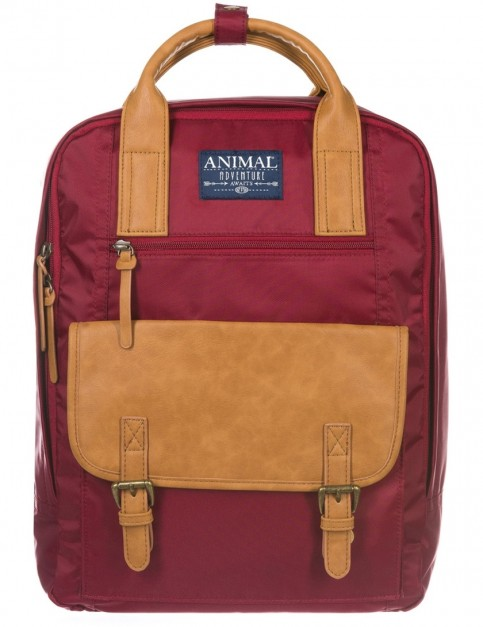 Animal Navigator Backpack in Bordeaux Red