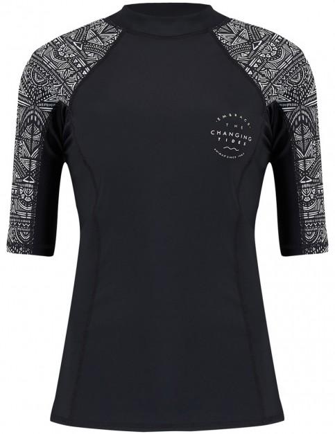 Animal Nessea Short Sleeve Rash Vest in Black