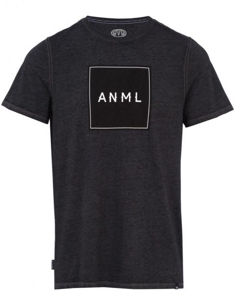 Animal Noah Short Sleeve T-Shirt in Dark Charcoal Marl