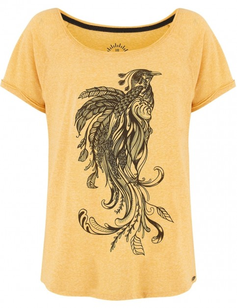 Animal Oceanica Short Sleeve T-Shirt in Sunshine Yellow Marl