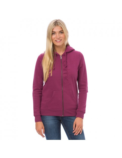 Animal Oscar Zipped Hoody in Dark Berry Purple