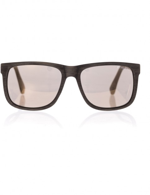 Animal Overcast Sunglasses in Textured Black/Smoke Gold