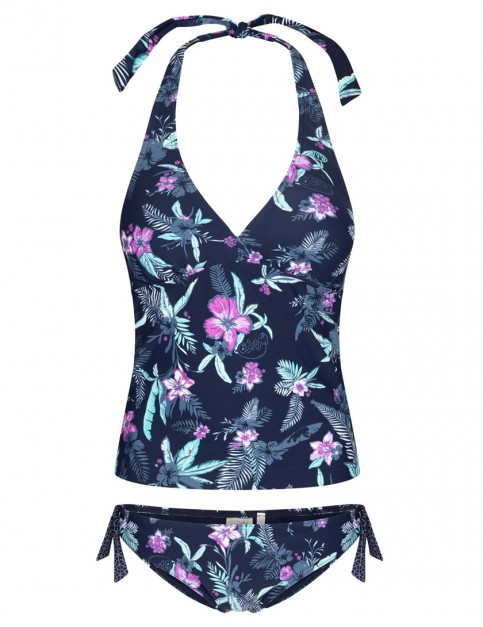Animal Paigee Tankini in Mid Navy Blue