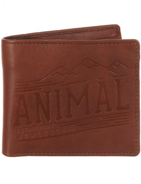 Brown Animal Peako Leather Wallet