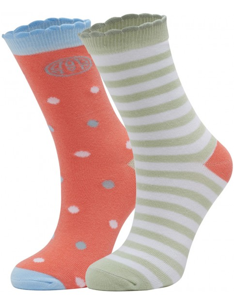 Animal Peoney Onna Socks in Coral Pink
