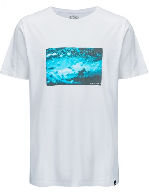 Animal Photographic Short Sleeve T-Shirt in White