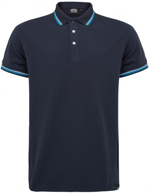 Animal Pique Polo Shirt in Total Eclipse Navy