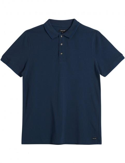 Animal Pique Polo Shirt in Dark Navy