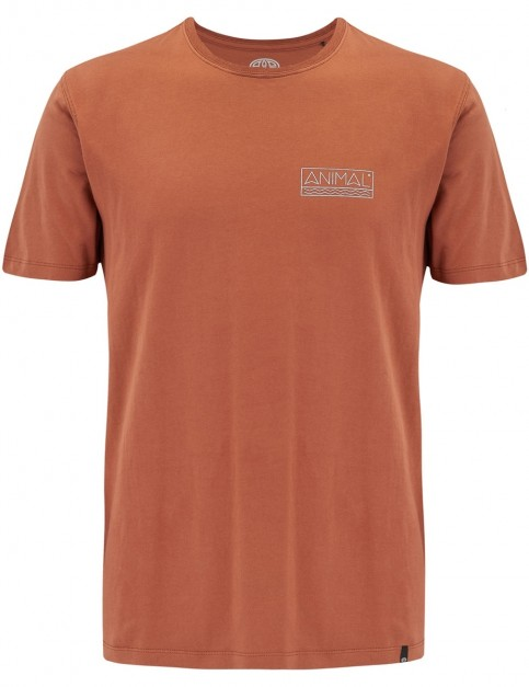 Animal Point Short Sleeve T-Shirt in Patina Brown