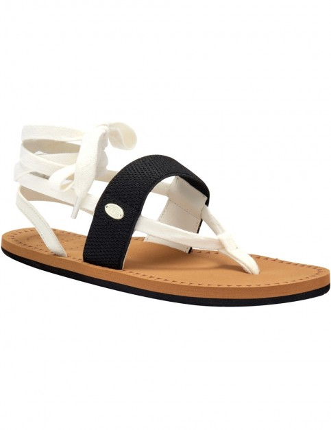 Animal Poppin Faux Leather Sandals in Coconut Cream