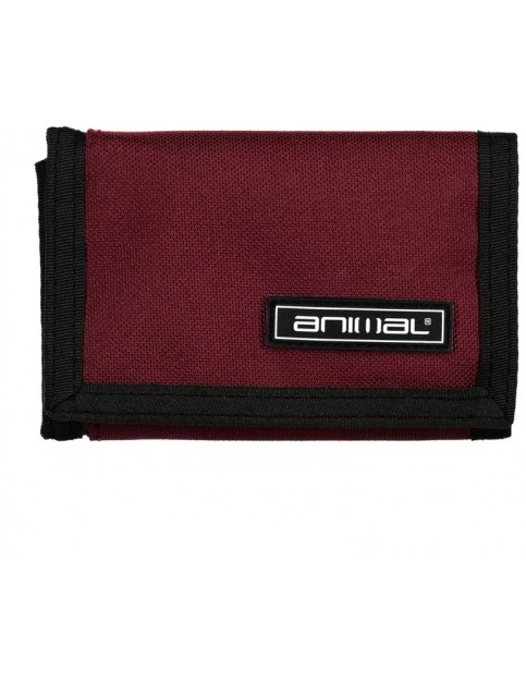 Animal Prevail Polyester Wallet in Wine