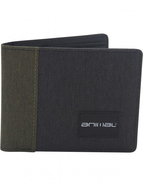 Animal Provoked Faux Leather Wallet in Dusty Olive Green