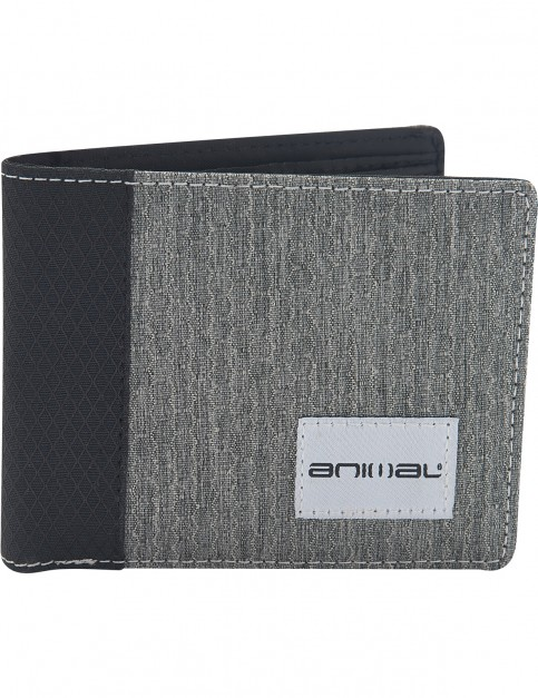 Animal Provoked Faux Leather Wallet in Grey