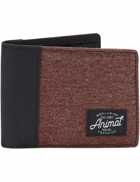 Animal Provoked Polyester Wallet in Andorra Red