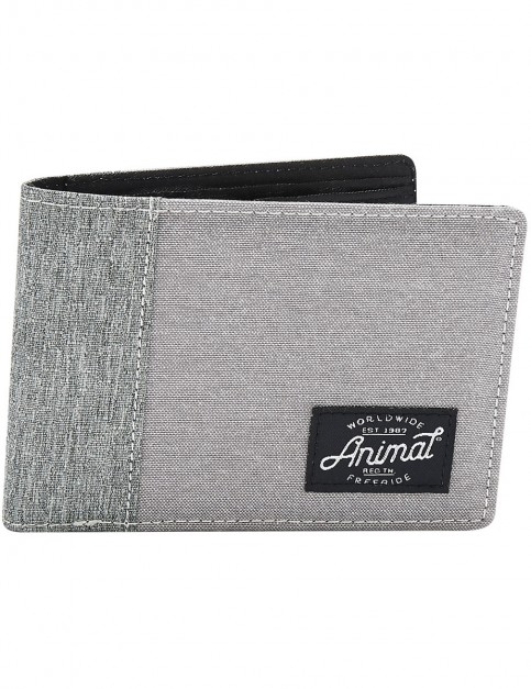 Animal Provoked Polyester Wallet in Grey