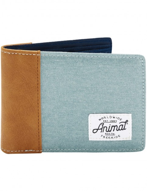 Animal Provoked Polyester Wallet in Smoke Blue