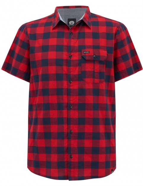 Animal Rake Short Sleeve Shirt in Rich Red